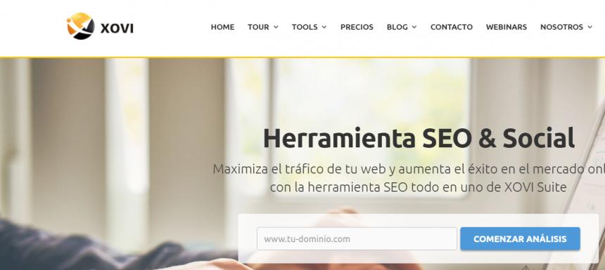 Herramientas de posicionamientos web: XOVI Suite