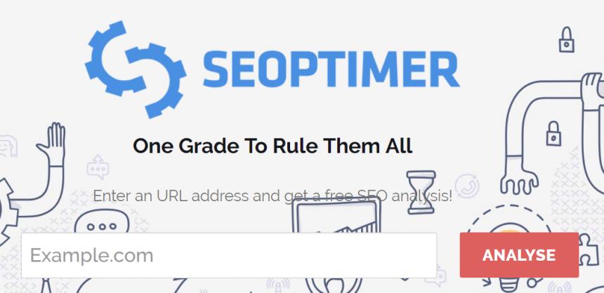 Herramientas de posicionamientos web: Seoptimer