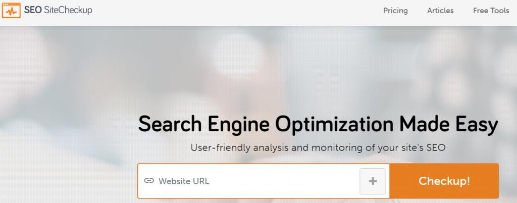 Herramientas de posicionamientos web: SEO Sitecheckup