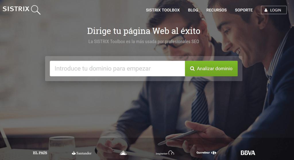 Herramientas de posicionamientos web: Sistrix
