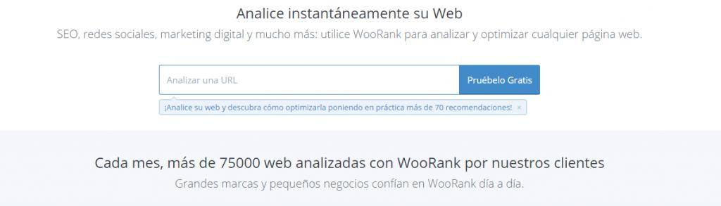 Herramientas de posicionamientos web: WooRank