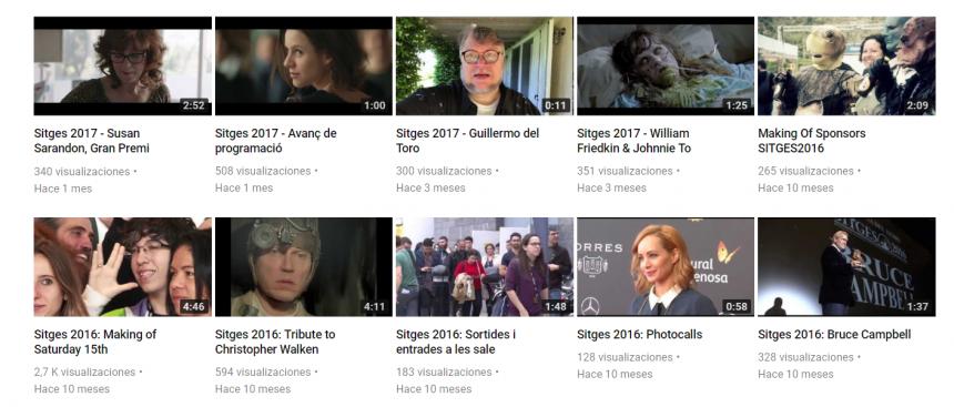 Canal de YouTube del Festival de Sitges