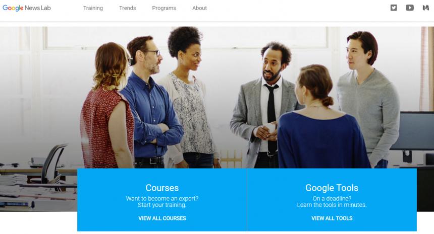 Google News Lab - Página principal