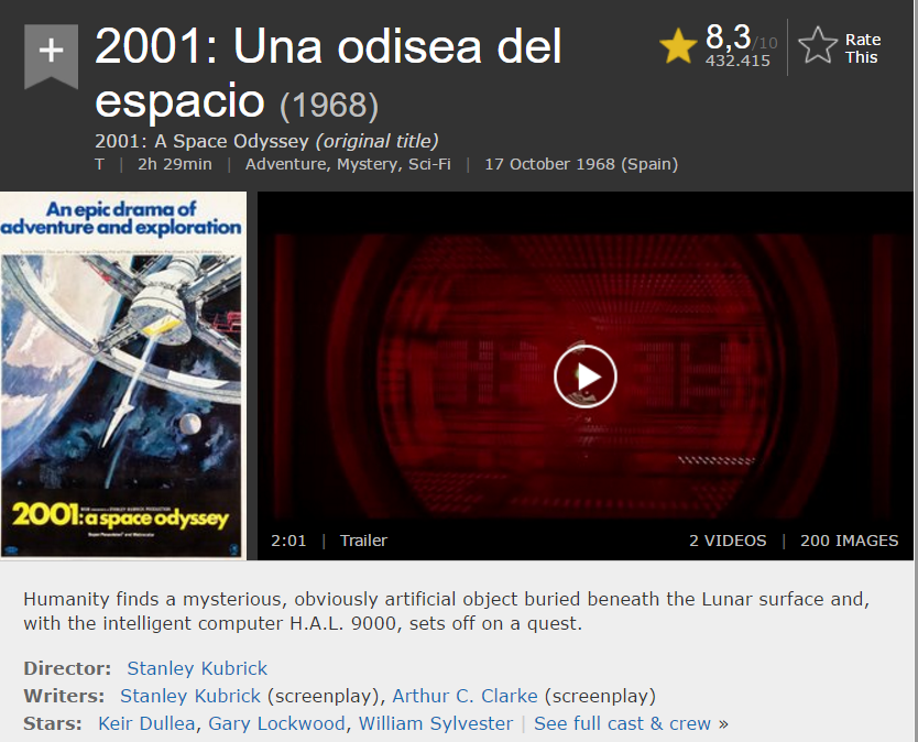 Ficha en IMDB de 2001