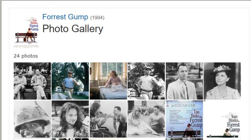 Bancos de imágenes: ejemplos de uso extremo. el caso del film Forrest Gump
