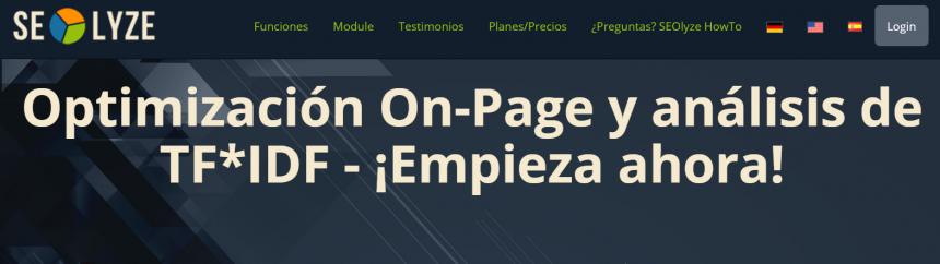 Herramientas de posicionamientos web: SEO Lyze
