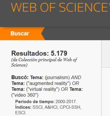 Función resumen de una página de resultados de woS