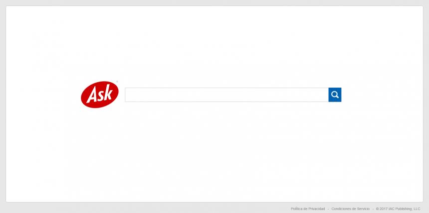 Ask es un buscador tradicional que ha ido perdiendo posiciones como uno de los buscadores alternativos a Google, pero se mantiene vigente