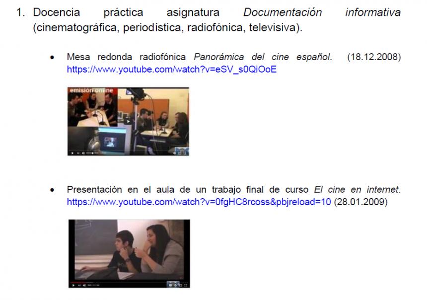 Ejemplos de contenidos de la obra sobre patrimonio audiovisual latinoamericano