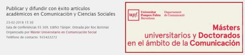 Conferencia sobre investigar en comunicación social
