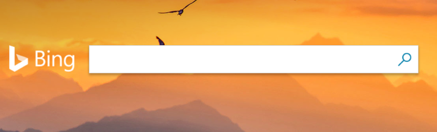 Página web del buscador Bing