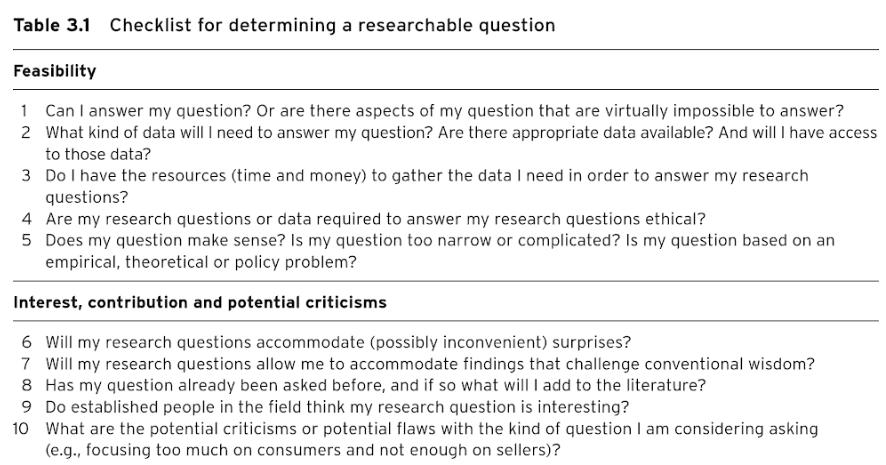 Evaluación de preguntas de investigación