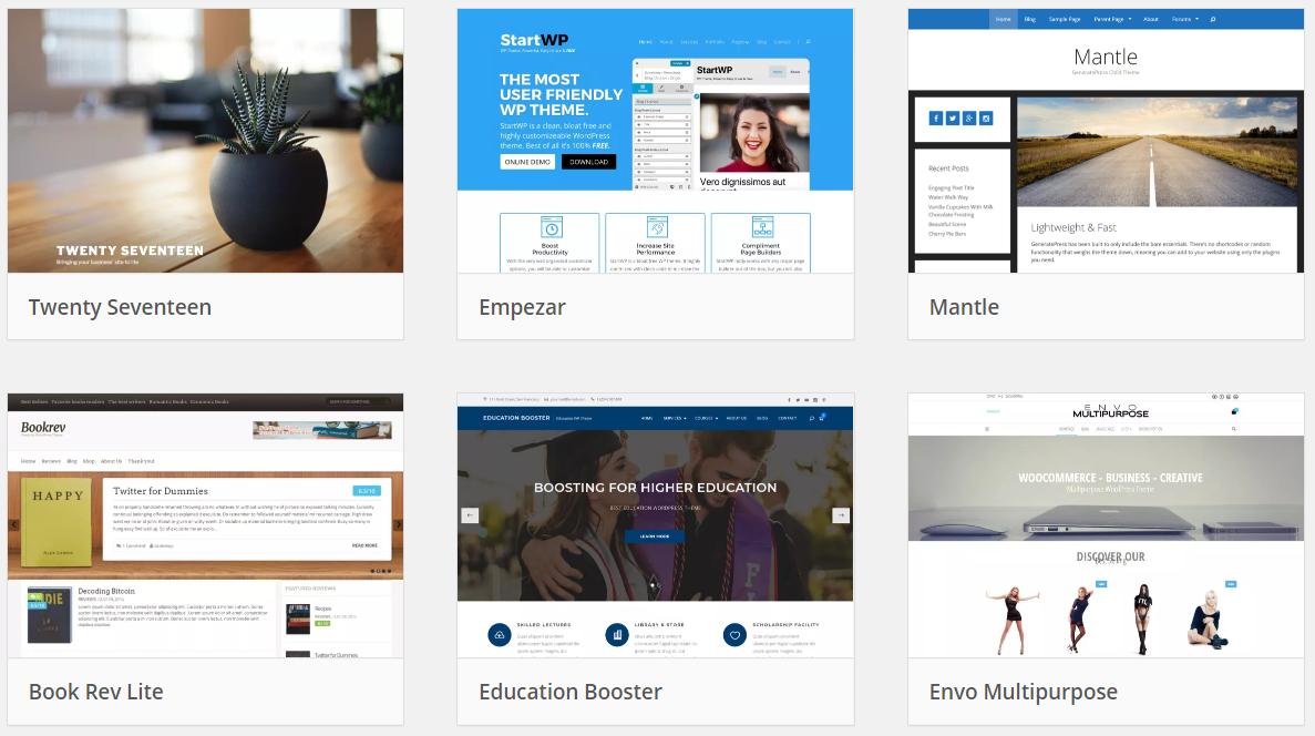 Plantillas para crear un blog con WordPress