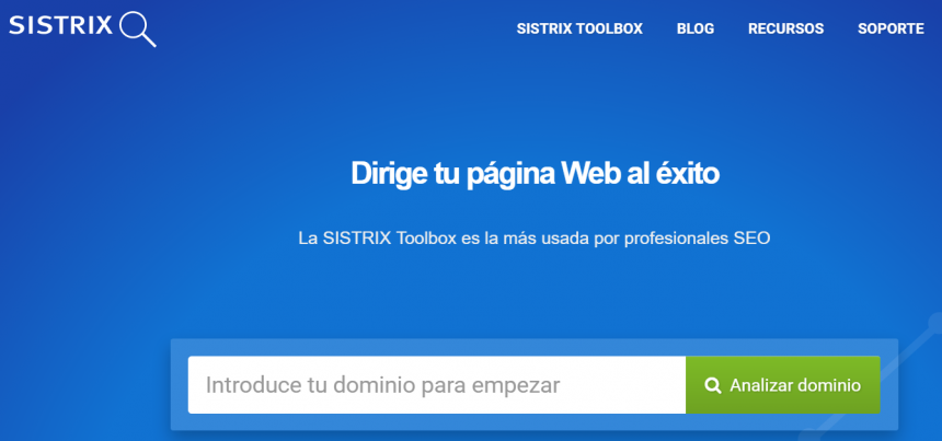 Sistrix Toolbox. Sistema de análisis SEO