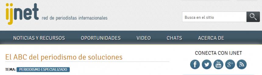 ijnet - Periodismo de soluciones