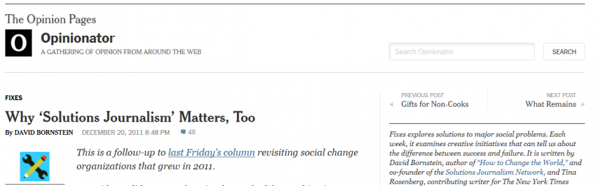 nytimes - Periodismos de soluciones
