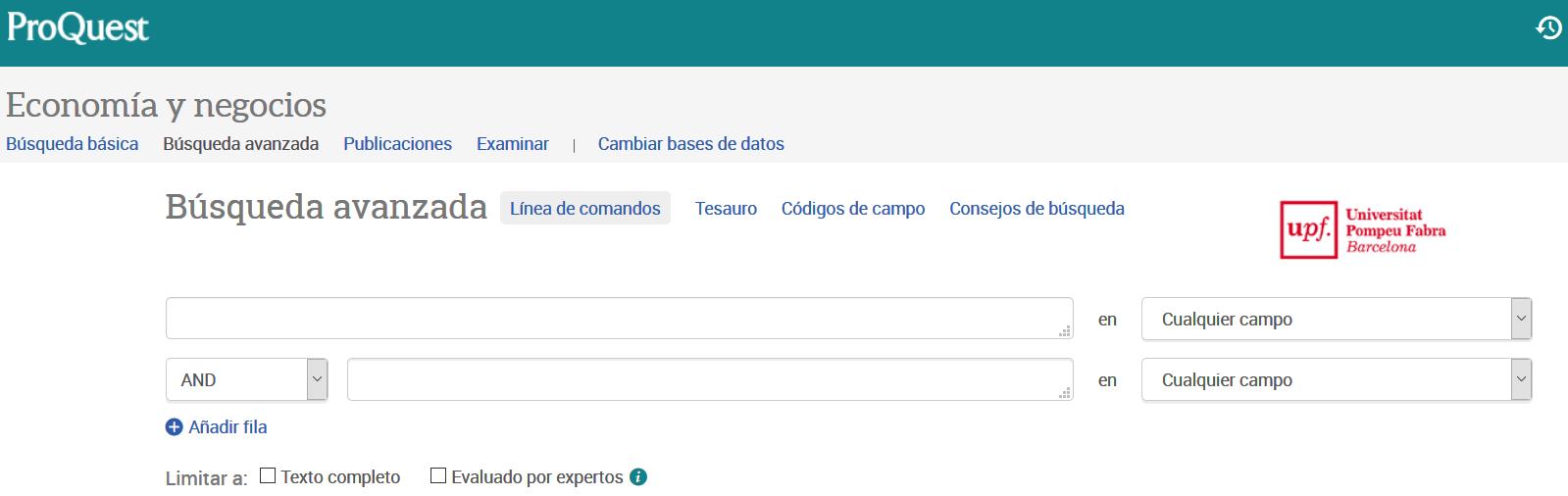 EconLit y ABI/Inform son las dos bases de datos de Economía y Negocios de ProQuest