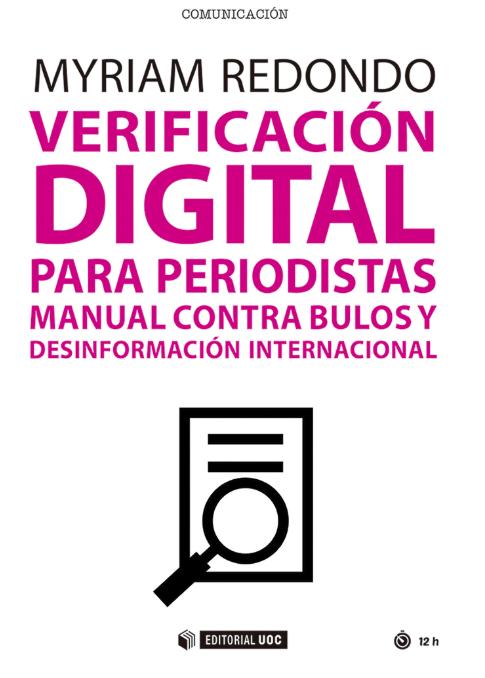 Portada libro sobre verificación digital de Myriam Redondo.