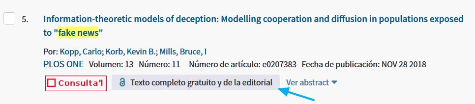 Acceso al documento completo en Web of Science (WoS)