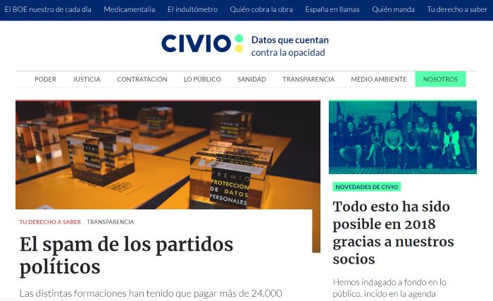 Portal Cvio.es de periodismo de investigación