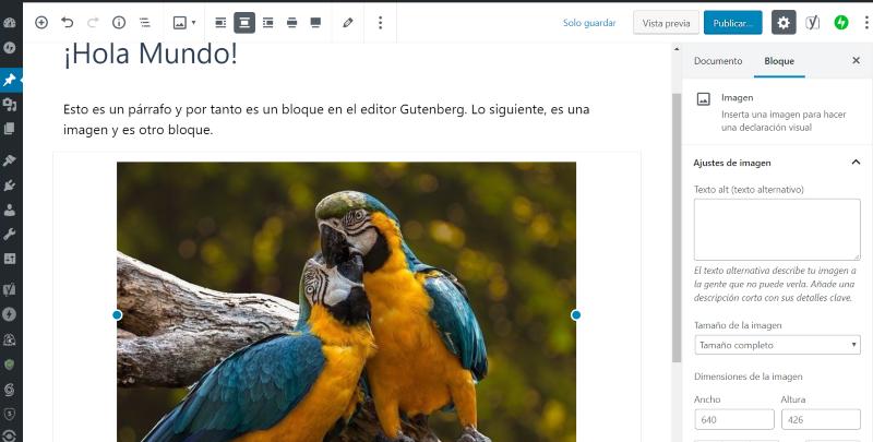 Gutenberg, editor de bloques de WordPress