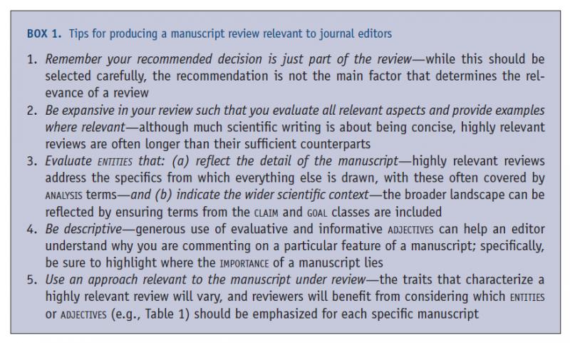 Consejos sobre peer review