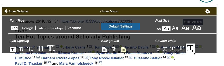 Adaptaciones de la lectura en el documento electrónico