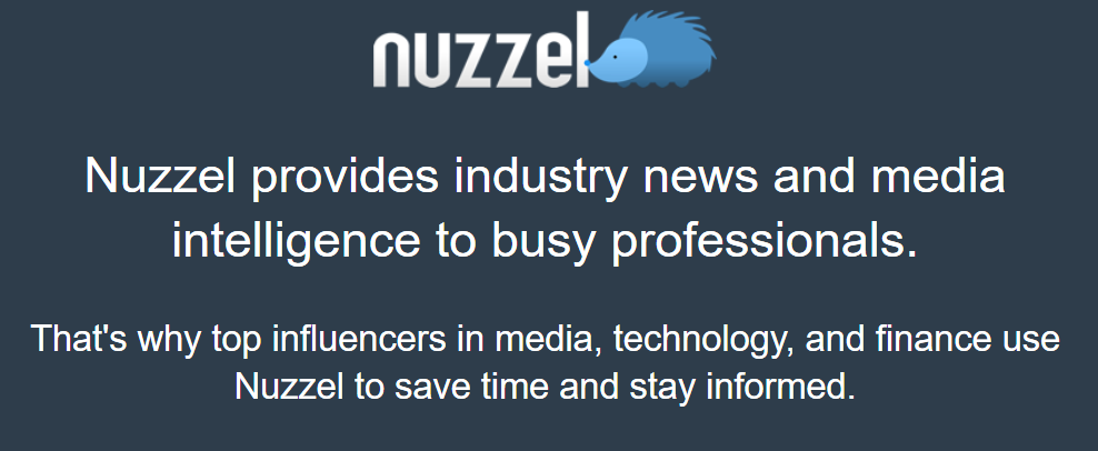 Nuzzel: descripción de la misión de este agregador. Proporcionar noticias a profesionales.