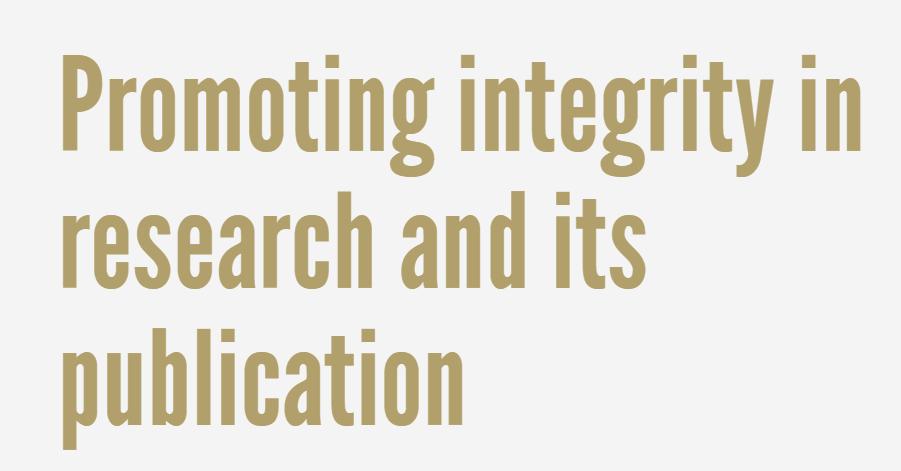 Promover la integridad en la investigación y sus publicaciones: misión del COPE