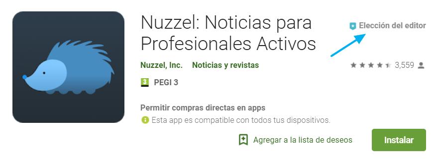 Versión de Nuzzel para Android en Google Play