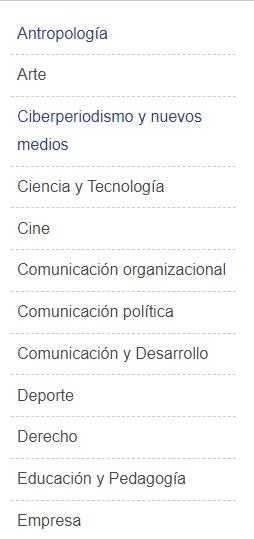 Taxonomía de Materias del Catálogo de la editorial