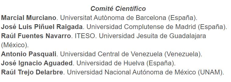 Comité científico de la editorial