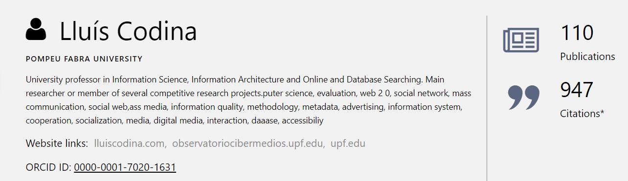 Ficha de un autor en Microsoft Academic