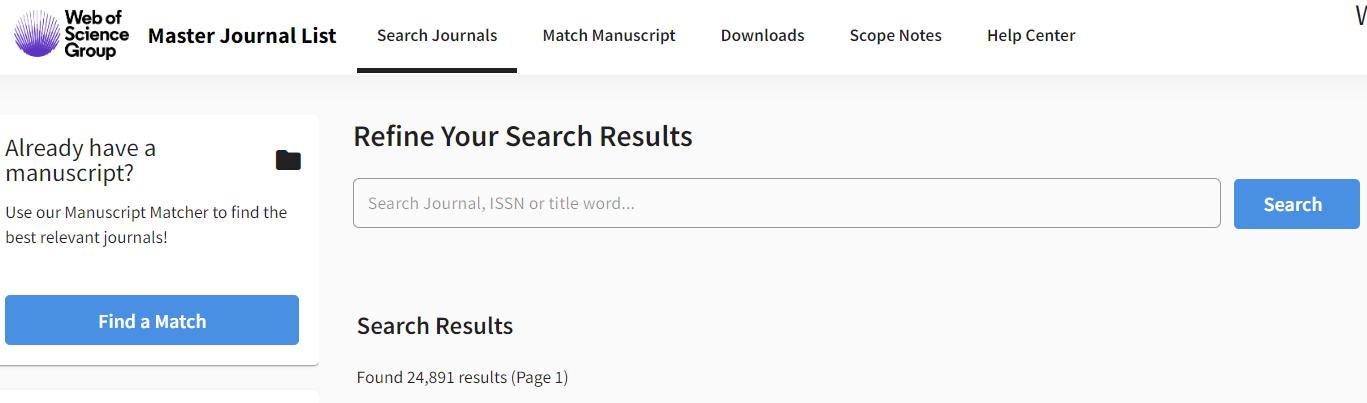 Las revistas académicas indexadas en WoS