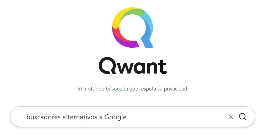 Cabecera del buscador Qwant