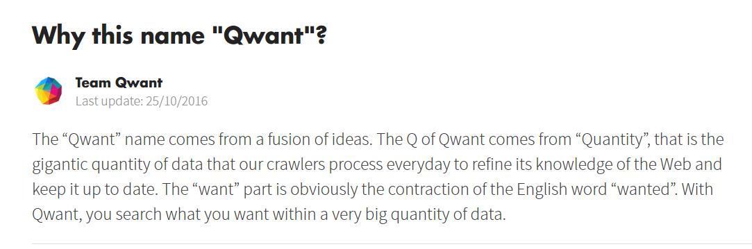Explicación del nombre Qwant