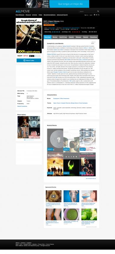 Ficha informativa de un filme en AllMovie