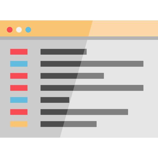 Icono de la página de resultados de una base de datos