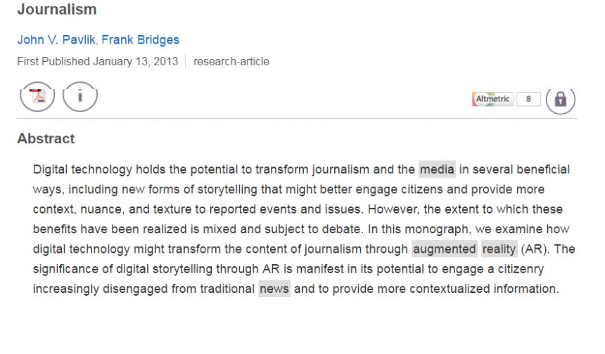 Registro en Sage Journals