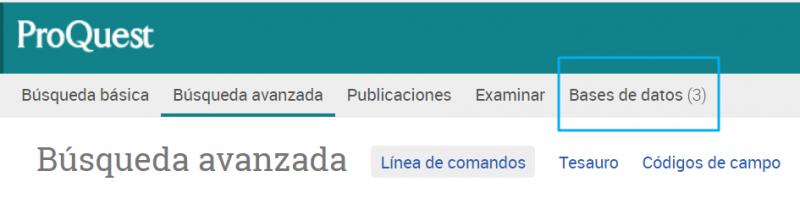 Entorno de trabajo de Newsstream para usar las tres bases de datos de prensa