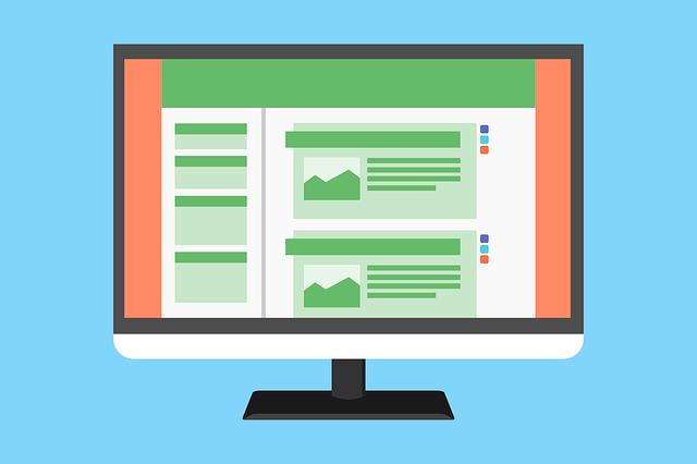 Representación de un estructura de navegación en la página principal de un sitio