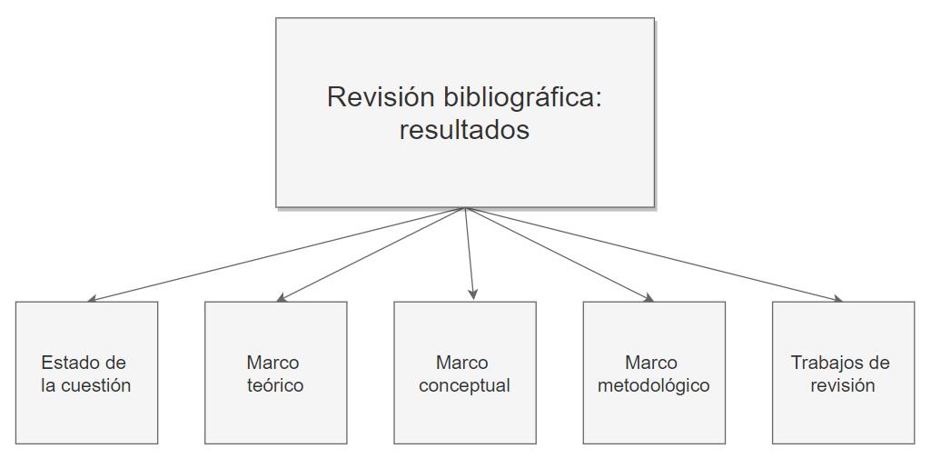 Productos de las revisiones bibliográficas