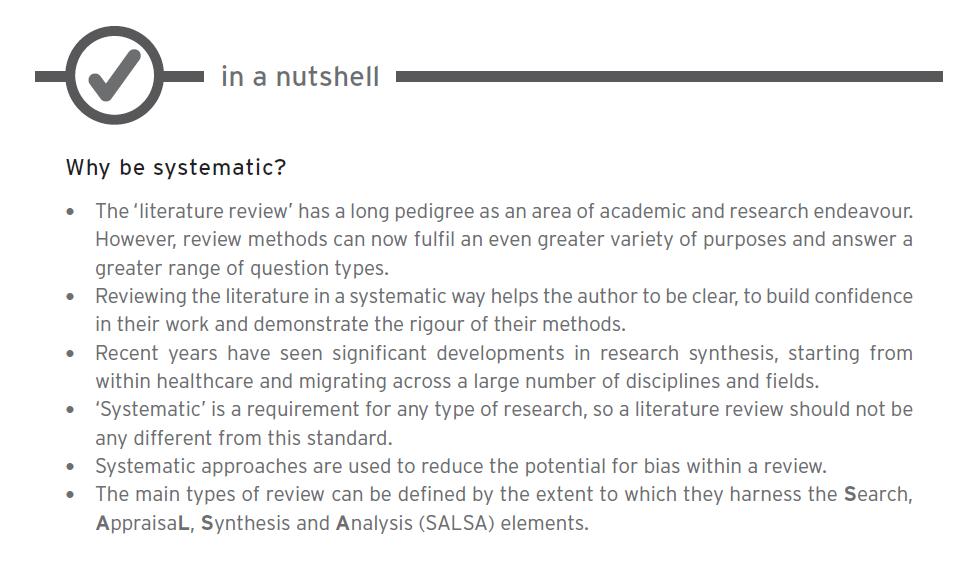 ¿Porqué ser sistemático? Puntos principales por los que una revisión debe ser sistemática.