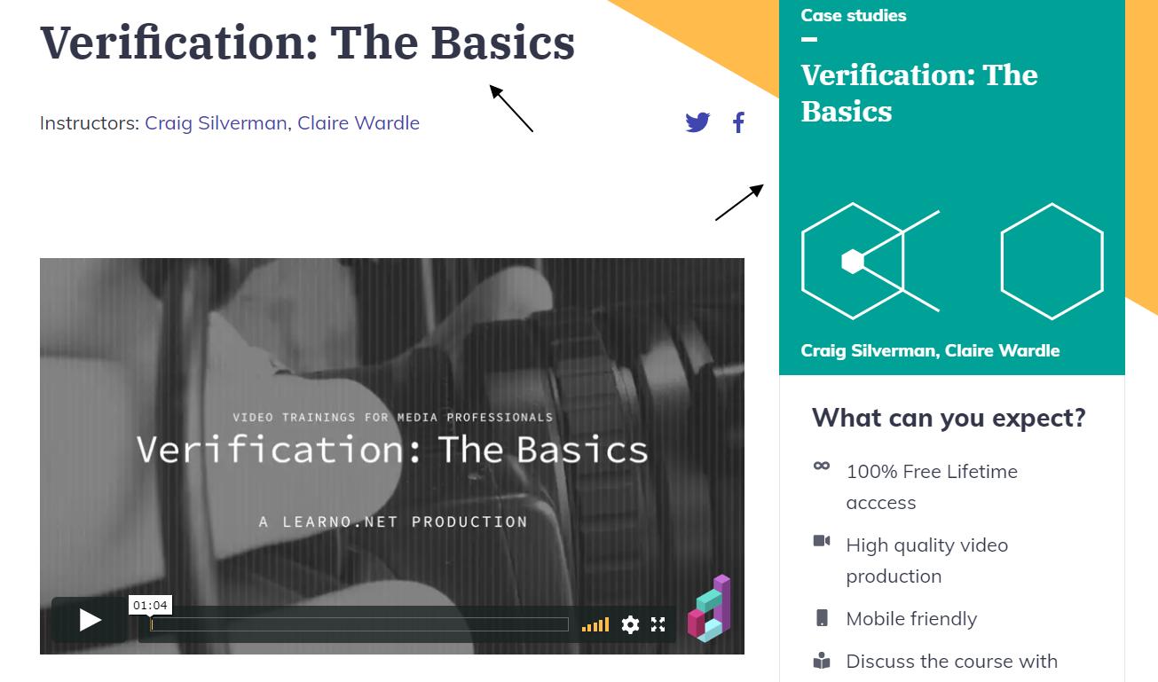 Curso en vídeo sobre verificación de la información
