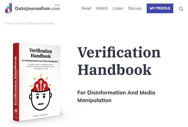 Libro sobre verificación. Captura de pantalla.