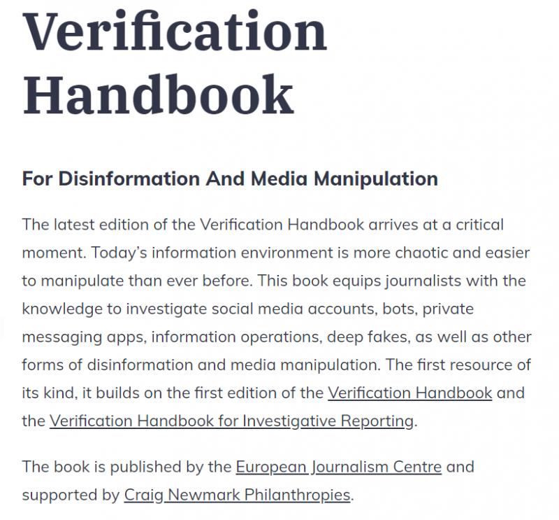 Presentación del Verification Handbook