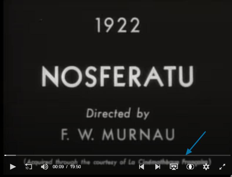 Filme cla´sico Nosferatu. Primeros fotogramas.