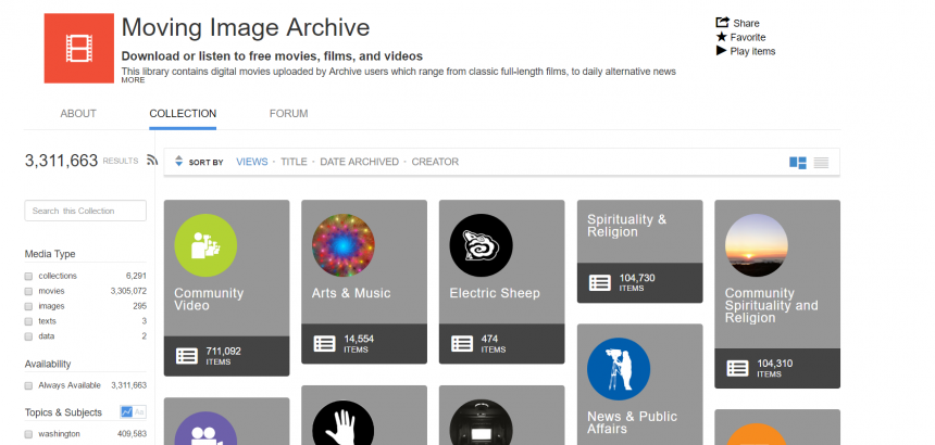 Internet Archive Moving Image
