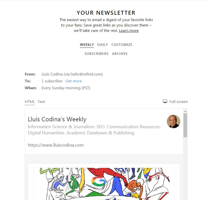Newsletter en Refind