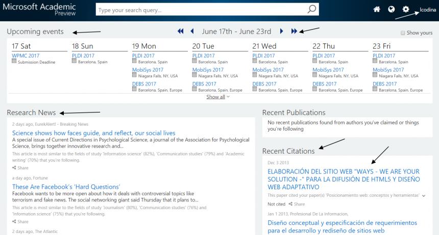 Academic 2.0 de Micrososft versión Preview